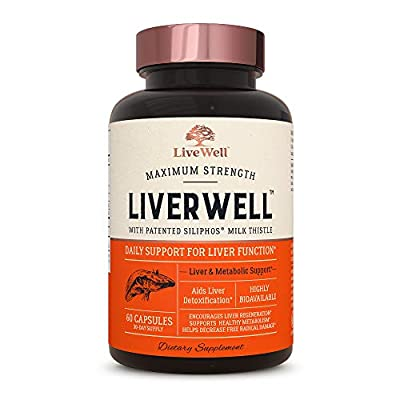 LiverWell Liver Cleanse & Detox, Regeneration, Metabolic Support - Highly Biovailable Patented Milk Thistle Extract + N-Acetyl Cysteine + Alpha Lipoic Acid + Zinc + Selenium by LiveWell Labs Nutrition