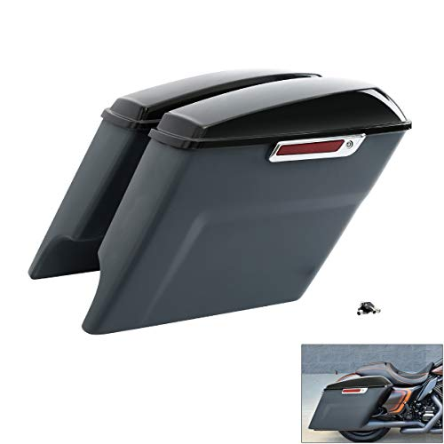 Buy XMT-MOTO Unpainted Gray Stretched Saddlebag fits for Harley Touring FLT, FLHT, FLHTCU, FLHRC, Ro...