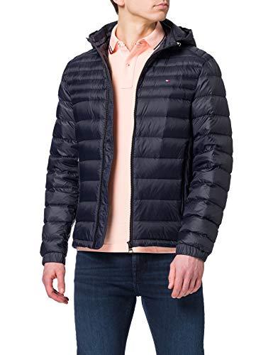 Tommy Hilfiger Packable Down Hooded Jacket Chaqueta, Cielo del Desierto, S para Hombre
