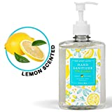 Lemon-Scented Hand Sanitizer Gel with 70 Percent Ethyl Alcohol, 16.9 Fluid Ounces - Sulfate-Free and Paraben-Free, Safe for Vegans - Non-Sticky Gel Hand Sanitizer with Pump - Made in USA (1)