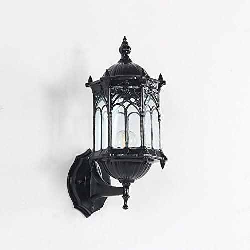 Applique Da Esterno Rustica Lanterne Antiche Da Parete Per Esterni Applique Impermeabile, Paralume In Vetro Trasparente Lampade Da Parete Esterne Per Apparecchio Di Illuminazione Per Veranda Del Patio