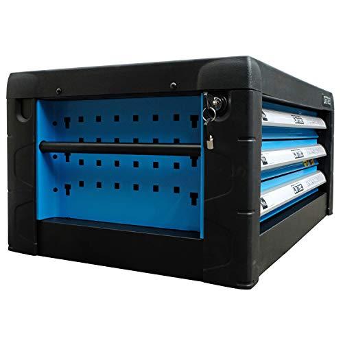 DeTec. Werkzeugkiste 2033 Carbon mit Werkzeug | Werkzeugkasten in blau | 3 Schubladen inkl. 129 tlg. Werkzeugsortiment - 5