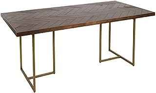 Craftenwood S0106228 Table de Salle à Manger, Bois d'acacia MDF, 180 x 90 x 75 cm, Matériaux Divers, Multicolore