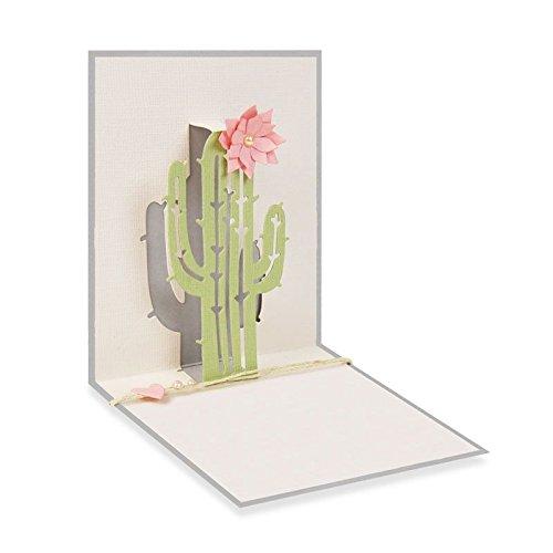 Sizzix 4Pop-Up-Kaktus von Sharon Drury Thinlits sterben Set, Carbon Stahl, Mehrfarbig, 23,5x 8.1x 0,2cm