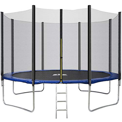 Rocket Bunny Trampoline with Safety Enclosure Netting and Ladder Jumping Mat 10ft/12ft/14ft (12ft)