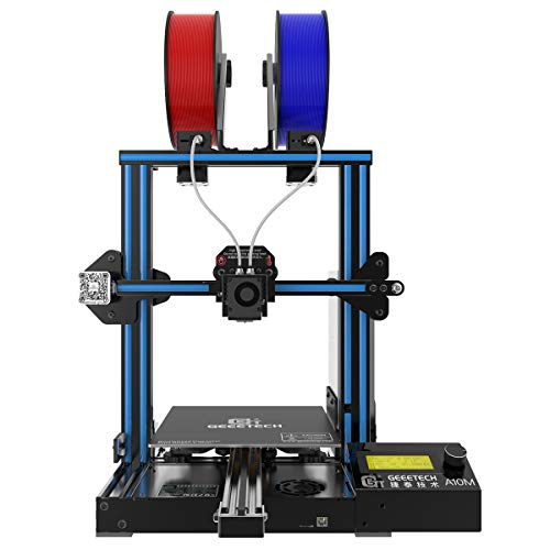 GEEETECH A10M 3D Printer with Mix-Color Printing, Dual extruder Design, Filament Detector and Break-resuming Function, Prusa I3 Quick Assembly Printers