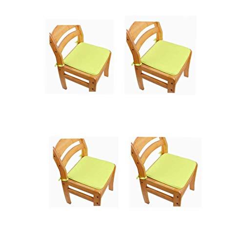 Cojín antideslizante para asiento de jardín, patio, cocina, comedor, 38 cm x 38 cm, 4 unidades