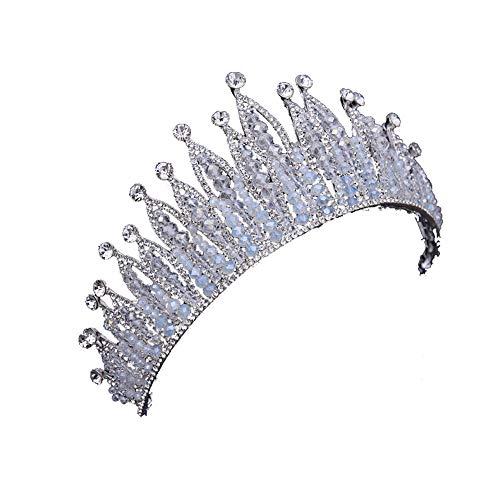 Brautkrone Barock Kristall Kopfschmuck Königin Krone Hochzeits Haarschmuck