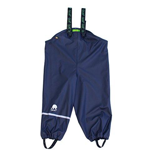 CeLaVi Jungen Regenhose Rainwear Overall -Solid, Blau (Dark Navy), 110cm