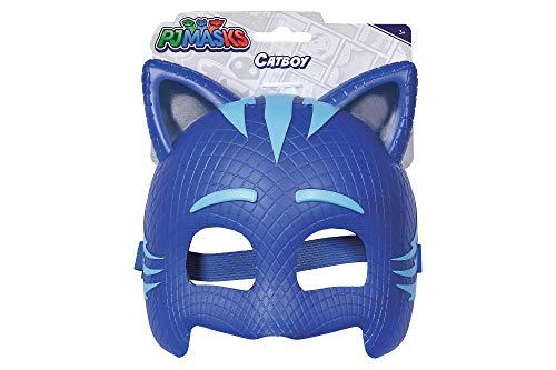 Simba – PJ Masks Maske Catboy / mit elastischem Gummiband / zum Verkleiden/ blau / 20cm, für Kinder ab 3 Jahren