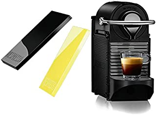 Nespresso Pixie Clips C60 Espresso Machine with Interchangeable Black and Lemon Neon Panels