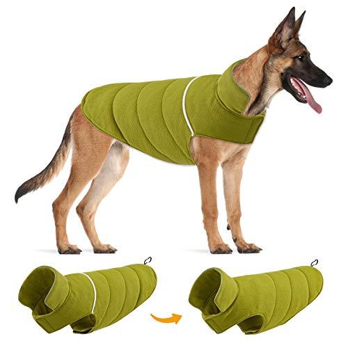 TVMALL Chaleco para Perros Reversibles Abrigos y Chaquetas para Perros Reflectantes para Perros Grandes Clima frío en Invierno Vestidos para Perros Grande y Mediana a Prueba de Viento