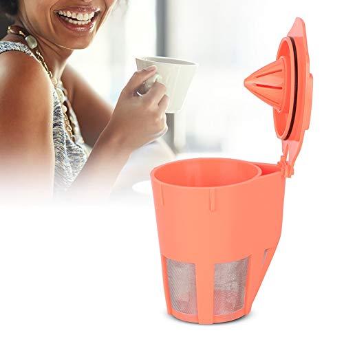 Koffiefilter, koffiecapsulebeker, hervulbare koffiekop, koffiefilterbeker voor koffiemachine, corrosiebestendig, hittebestendig en duurzaam, food grade kunststof PP + roestvrij staal 304