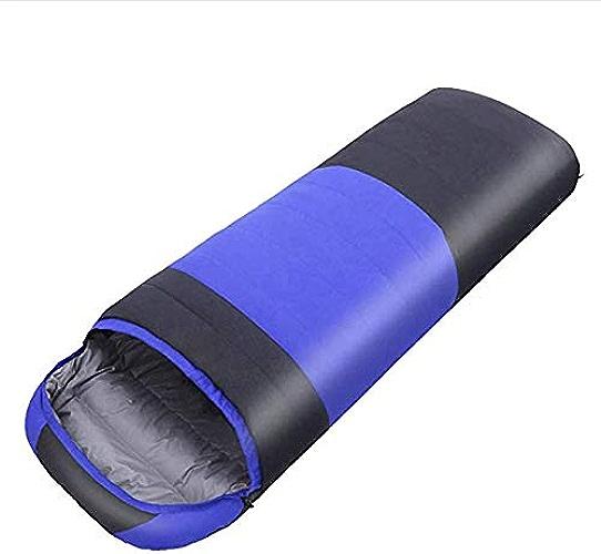 TYX CrossRobeer Sac de Couchage Enveloppe imperméable, idéal pour Le Camping en Plein air, la randonnée et Les activités de Plein air,bleu