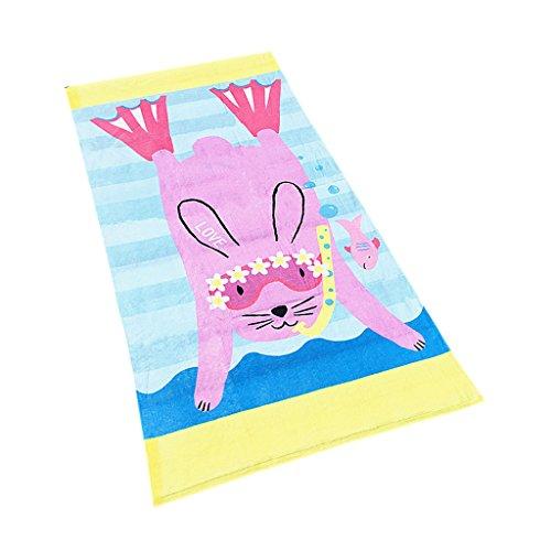 Kids Strand Badhanddoek Badjas - Jongens Bad Deken Meisjes Zwemmen Poncho Robe 100% Katoen Reisdeken Snelle Droge Surfen Sport Cartoon Gedrukt Zacht