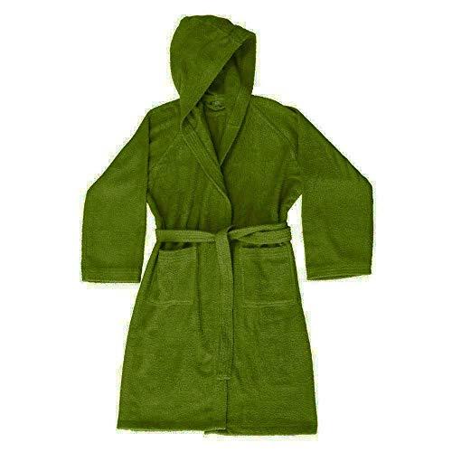 Albornoz Zucchi Journey para hombre y mujer con capucha, talla S – M – L – XL de microrizo 100% rizo de puro algodón 260 g/m² (Bosco, S – 42/44)