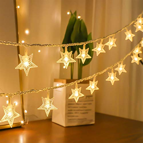 Jsmile Star light chains, LED fairy lights, IP44 rating, used for family garden party, wedding, birthday, Christmas decoration outdoors.
