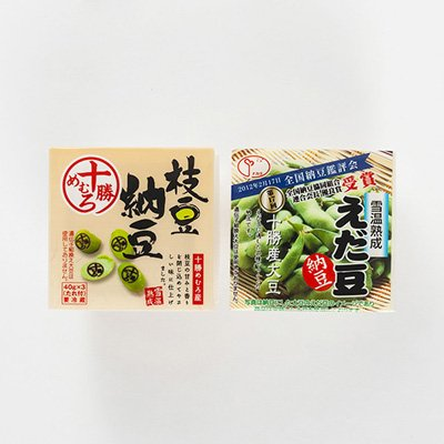 えだ豆納豆食べ比べセット株式会社中田園北海道十勝・帯広の納豆メーカーが開発した枝豆の納豆2種