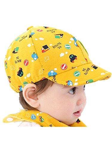 Babykind jongens meisjes kleine kinderen kind heeft vovovotrade weinig auto karikatuur gedrukte applique beret pet leuke zon strand katoenen hoed voor 0-3 jaar oude emmer hoeden baseballpet