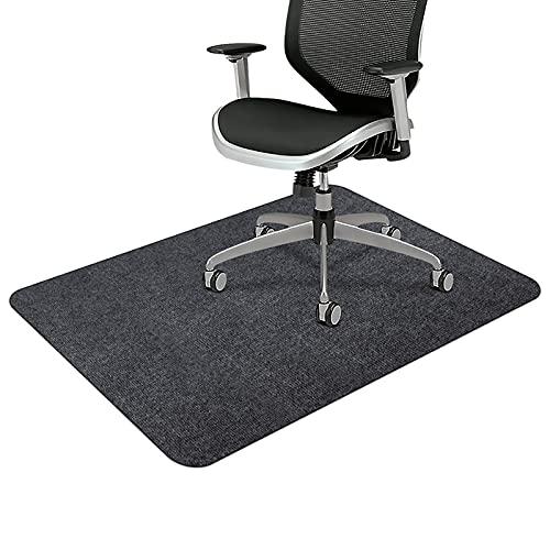 SALLOUS Chair Mat for Hard Floors, 55' x 35' Rectangular Protector Chair Mats for Hardwood Floors, Low Pile Desk Rug for Home Office, Rolled Packaging, Dark Gray