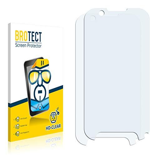 BROTECT Schutzfolie kompatibel mit Benefon p331 (2 Stück) klare Bildschirmschutz-Folie