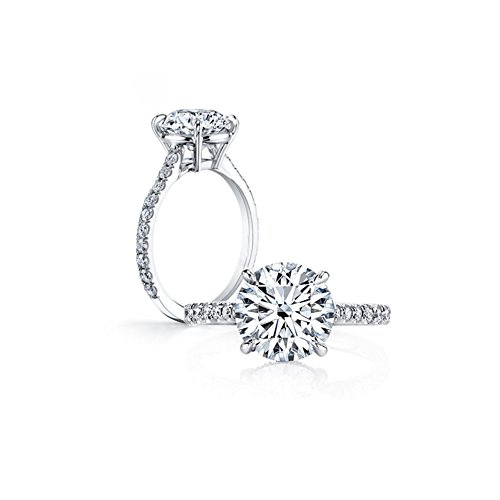 AINUOSHI Brand 3 Carat High Setting Ring Round Cut Cubic Zirconia 925 Sterling Silver Women Wedding Engagement Rings
