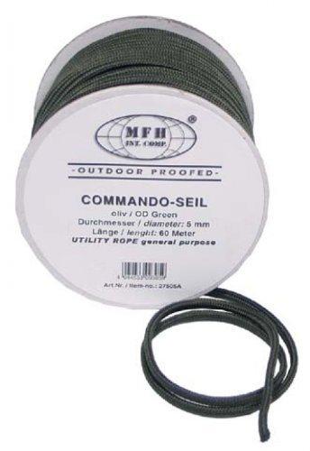 Seil, oliv, 5 mm, 60 Meter