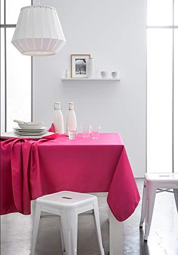 TODAY 257531Tischdecke aus Baumwolle, 140x 240cm, Baumwolle, Jus de Myrtille/Fuchsia, 140 x 240 cm