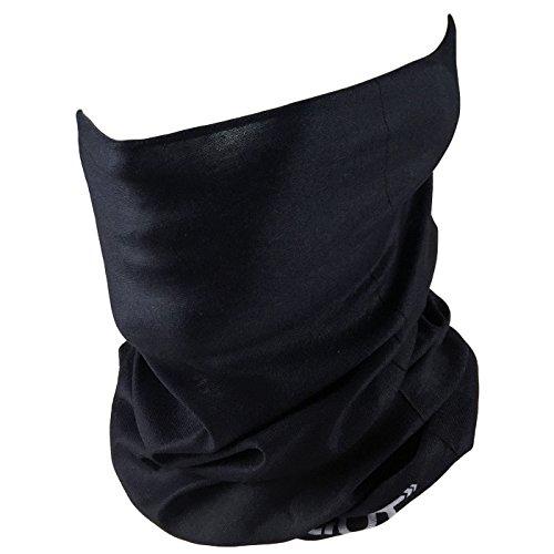 Outdoor Face Mask - Perfect for Motorcycle Riding, Skiing, ATV/UTV Riding, Fishing - Work as Sun Mask, Dust Mask, Neck Gaiter, Balaclava, Bandana - Breathable Seamless Microfiber (Plain Black)