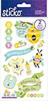 Sticko Flat Stickers-Baby Beehive, 26/Pkg