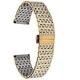 ZXF Correa Reloj, Acero Inoxidable Correa 20mm 22mm Reloj del Metal del Acoplamiento de la Venda de la Mariposa de reemplazo Pulsera Hebilla de Oro Pulsera de Hombres Mujeres Accesorios Pulsera
