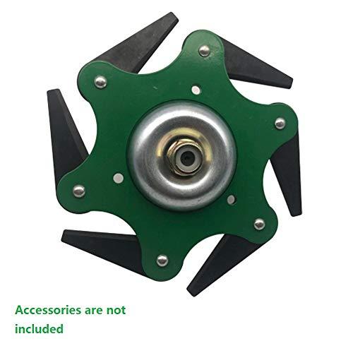 LUBIN Cabezal del cortacésped, Disco Desbrozadora de 6 Dientes Cuchilla, Cuchillas para Accesorios prácticos para máquinas herbicidas, Corte de 360 ° sin ángulo Muerto Verde