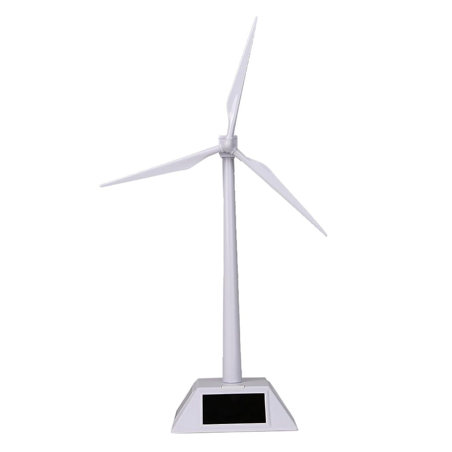 Alloet Desktop Wind Turbine Model Solar Powered Windmills ABS Plastics White for Education or Fun qenqrfjjixt13