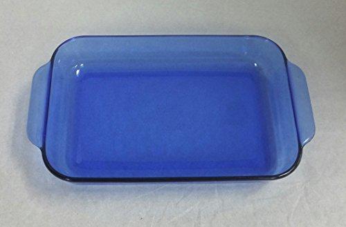 Pyrex #232-R 11xx7x1.5 Inch Rectangular Casserole, 2 Quart, Transparent Blue