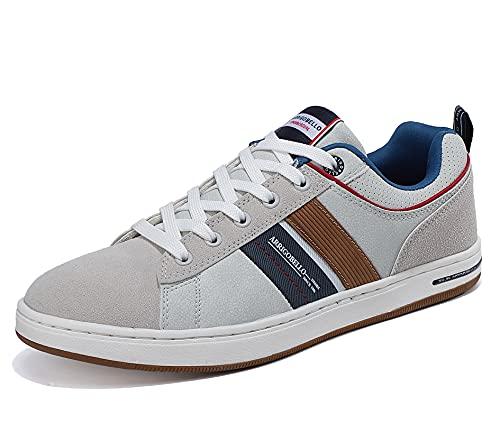 ARRIGO BELLO Zapatillas Hombre Vestir Casual Zapatos Deportivas Sneaker Transpirables Cómodo Running Caminar Correr Trainer Tamaño 41-46 (Oscuro, Numeric_41)