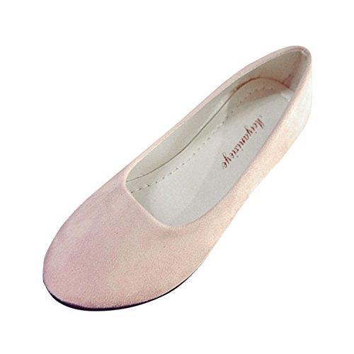 Patifia Damen Schuhe, Damen Einfarbig Flats Damen Bequeme Elegant Schuhe Weiche Slip-On Casual Bootsschuhe Erbsenschuhe Ballerinas Pumps Freizeitschuhe Sandalen