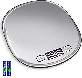 RUIYING 33lb/15kg Digital Kitchen Food Scale (Stainless Steel)