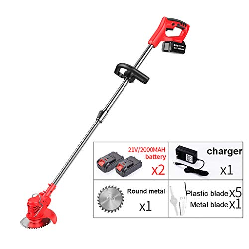 Buy Discount ELSP 21V Cordless Electric Grass Trimmer Lawn Mower Pruning Cutter Kit with Replace Bla...