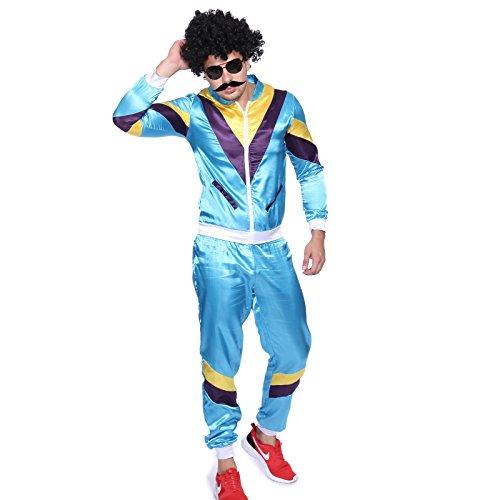 Maboobie - Disfraz de ochentero en chndal para Hombre Disfraces de los aos 80 Deportiva Retro 80s (M)