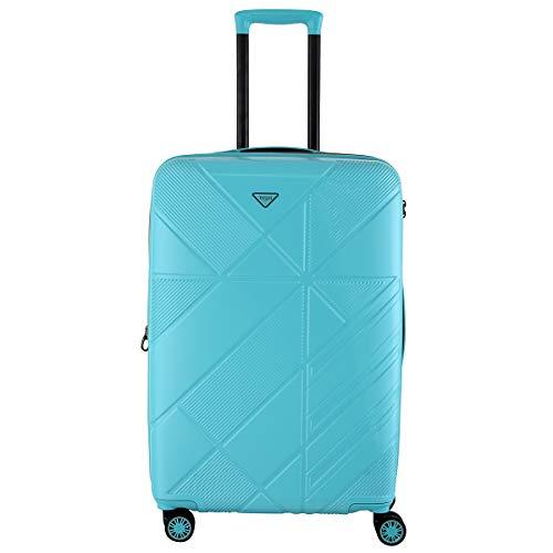 Titan Runner 4-wieltjes koffer polycarbonaat trolley harde schaal M 67 cm 67/77 L 3,5 kg 829405 uitbreidbaar Eén maat turquoise