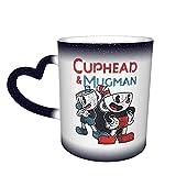 Cuphead & Mugman Dynamic One Piece Magic Color Change Coffee Mug in The Sky, tazza in ceramica sensibile al calore