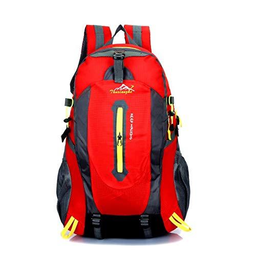 ZHIHUI Schultasche Rucksack Männer wasserdichte Segeltuchtaschen Große Kapazität Reiserucksäcke Rucksack Schultaschen Für Jugendliche,Red