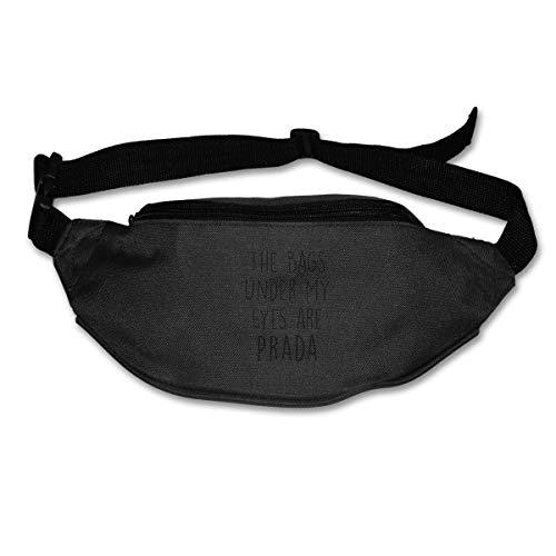 HKUTKUFGU Bauchtasche für Damen und Herren, die Taschen unter Meinen Augen sind Prada Top Paris Fashion London Taillentasche Reisetasche Geldbörse Bauchtasche für Laufen, Radfahren, Wandern, Workout