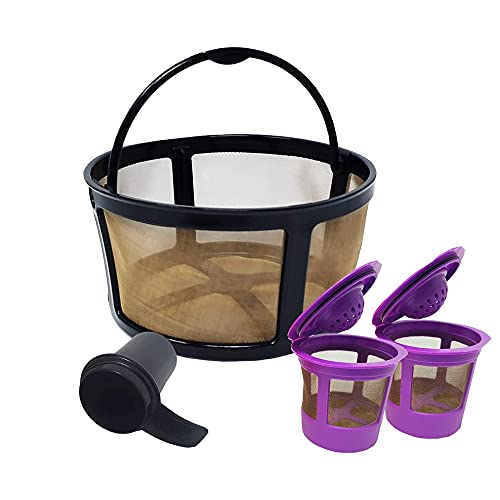 GOLDTONE Reusable Coffee Filter fits KEURIG Essentials & K-Duo Coffee Makers and Brewers includes 2 Single Serve Filters and Scoop