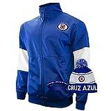 Icon sports Cruz Azul Cruz Jacket for Men Futbol Club Logo 2020 2021 Official Soccer Gear and Bracelet C1 (XL, Cruz Azul Jacket and Beanie)