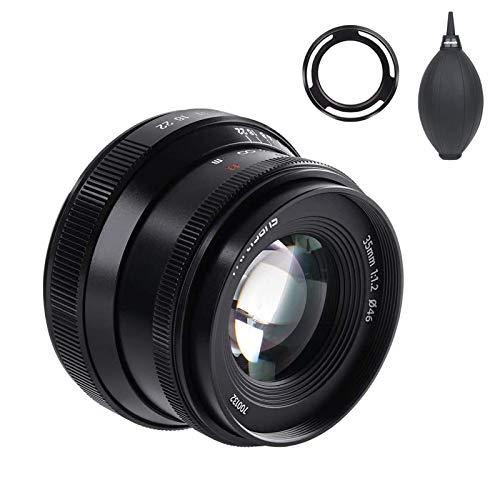 7artisans 35mm f1.2 V2.0 Manuelle Fokussierung Standard Prime-Objektiv für spiegellose Fujifilm X-Mount-Kameras X-A1 X-A10 X-A2 X-A3 X-at X-M1 X-M2 X-T1 X-T10 X-T2 X- T20 X-Pro1 (Schwarz)