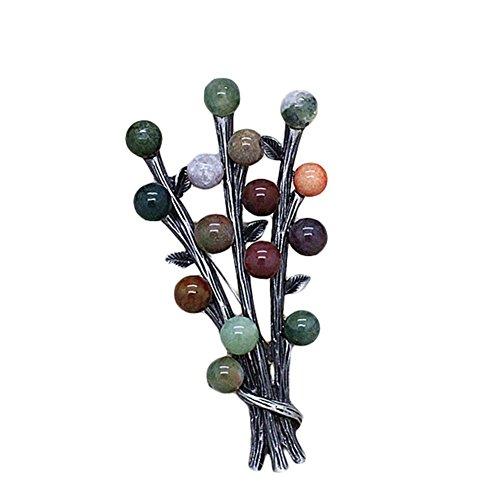 Hosaire 1X Retro Sra Piedra de Color Broche de Novia de la Bufanda del Chal Mujeres envueltas Clip de la joyería del Arte (Color)
