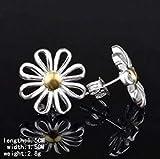 Carry stone 925 Sterling Silber Ohrringe Schmuck Mädchen Chrysantheme Ohrringe langlebig und praktisch