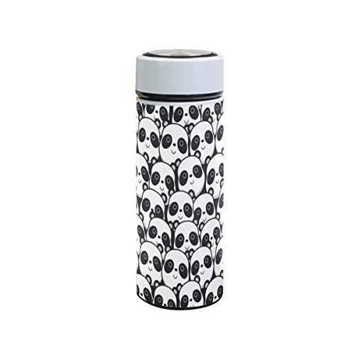 XiangHeFu Panda Animal patroon Travel Mug waterfles lekvrij koud- of warmhoud-thermoskan roestvrijstalen thee