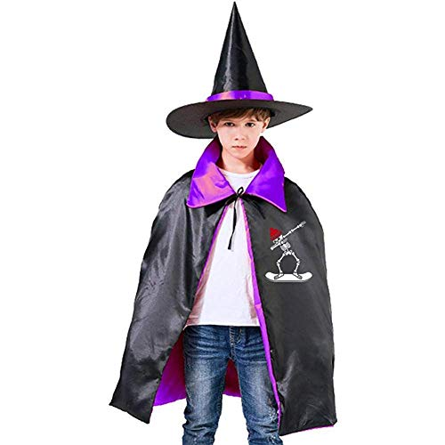 KDU Fashion Wizard Mantel, Dab Dabbing Skeleton Snowboard Zachte Comfortabele Wizard Mantel Capes Voor Carnaval Party 70 cm